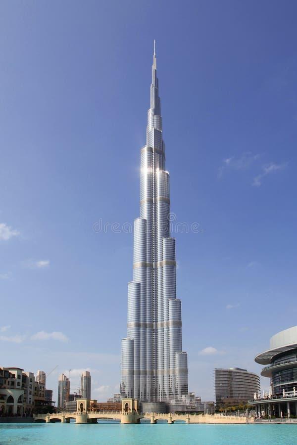 UAE. Dubai. Burj Khalifa imágenes de archivo libres de regalías