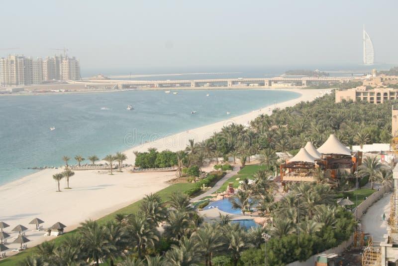 UAE. Dubai. Praia de Jumeira imagem de stock royalty free