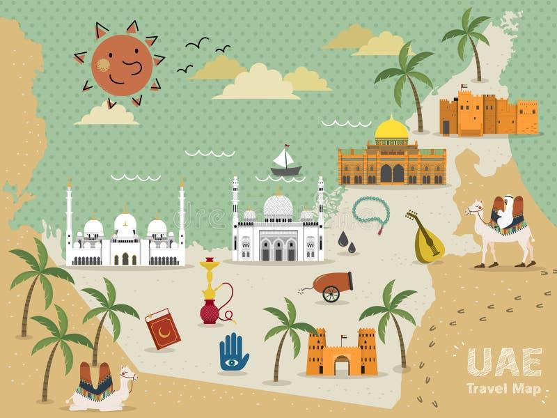 UAE-loppbegrepp royaltyfri illustrationer