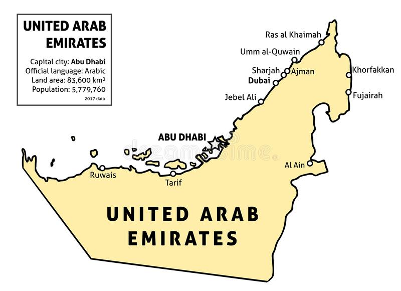 UAE Map Stock Vector Illustration Of Borders Infographics - Uae map