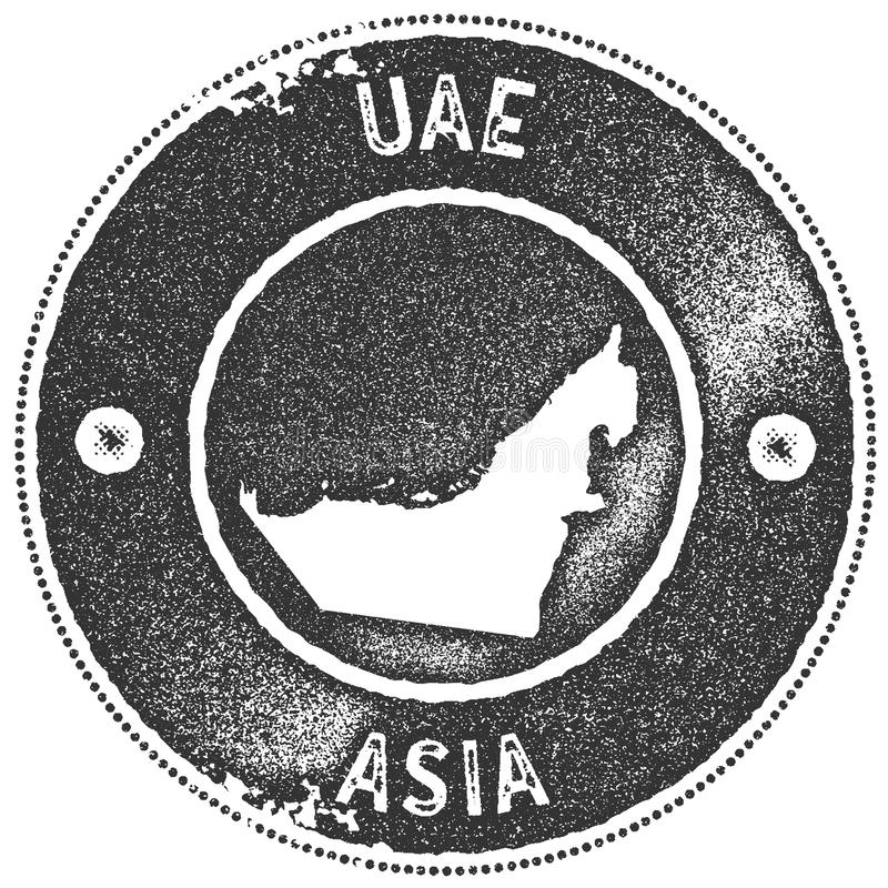download uae map vintage stamp stock vector illustration of emirates 105968382