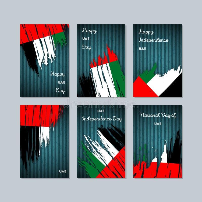 UAE Patriotyczne karty dla święta państwowego royalty ilustracja