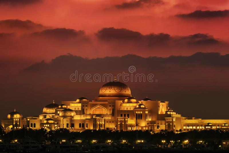 UAE presidential palace Abu Dhabi royalty free stock image