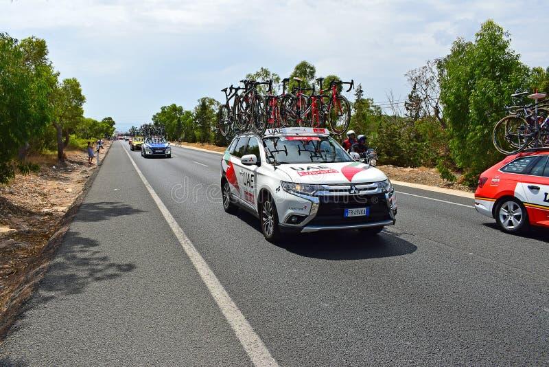 UAE Team Car La Vuelta España stockfotos
