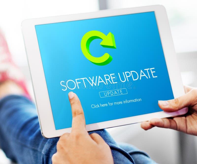 Uaktualnienie Programu programa Cyfrowego ulepszenia pojęcie zdjęcia stock