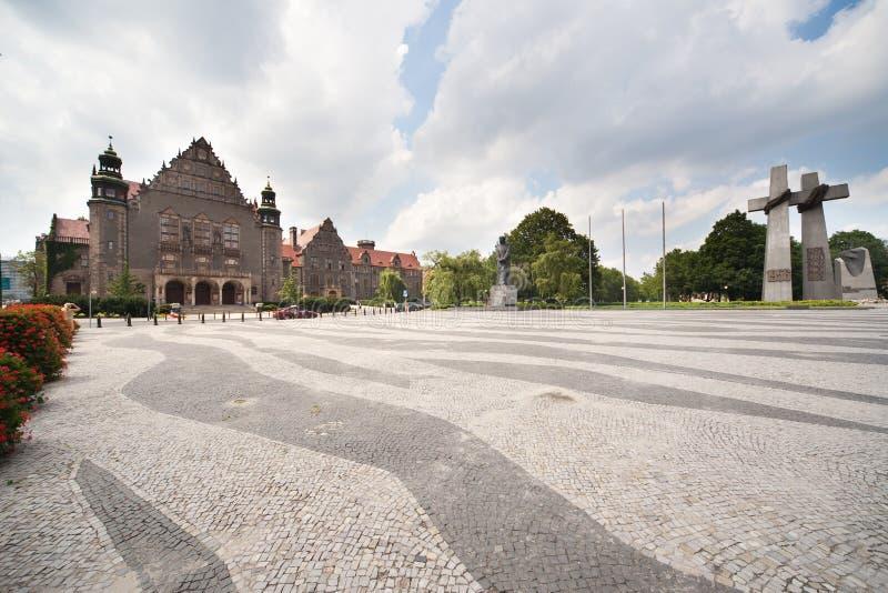 UAM - Università del Adam Mickiewicz a Poznan fotografie stock libere da diritti