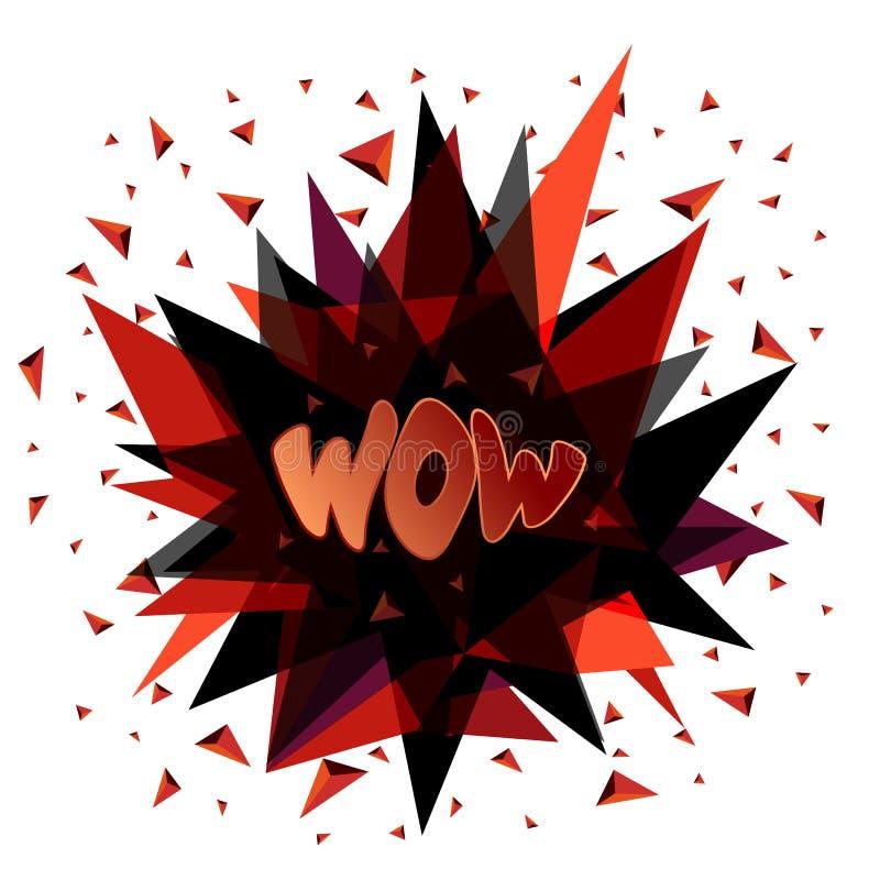 Uau, emoção, surpresa, prazer, alegria Ilustração do vetor ilustração do vetor