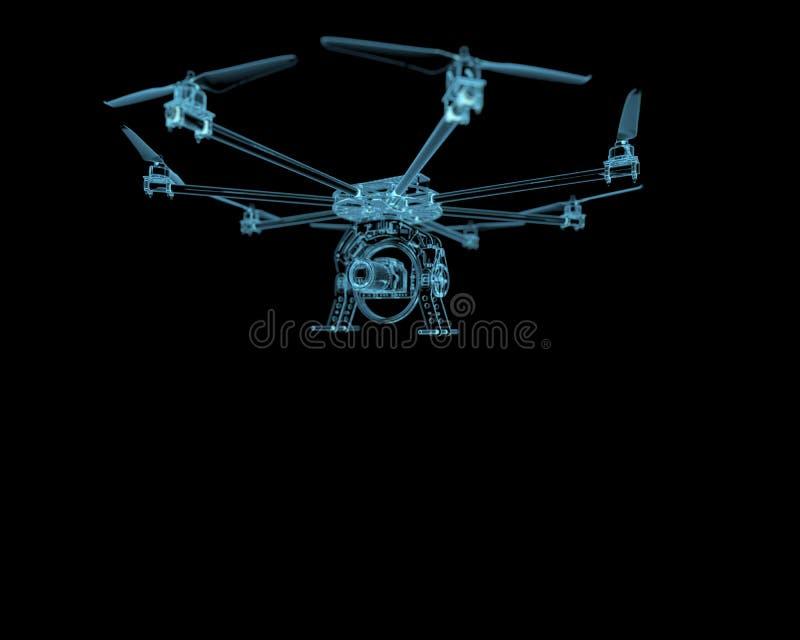 Uav αεροπλάνων κηφήνων διανυσματική απεικόνιση