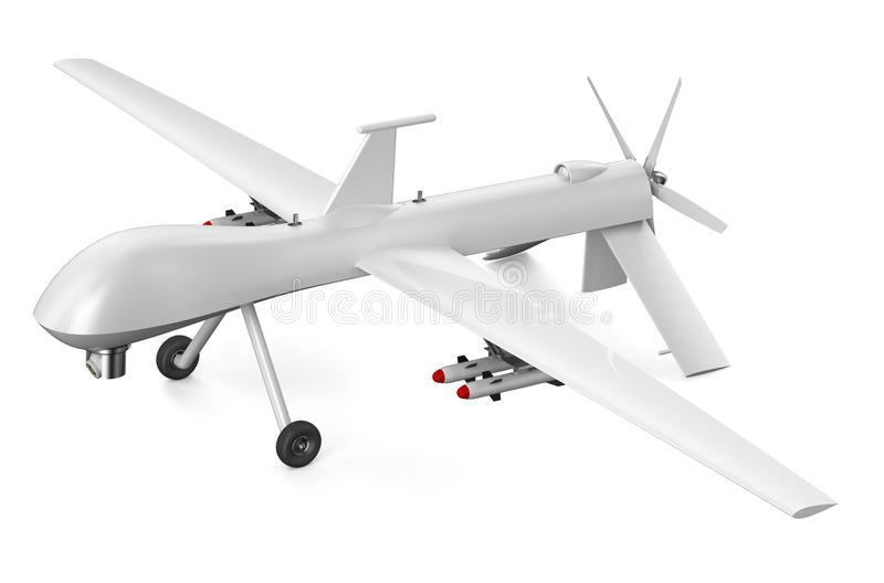 UAV aéreo sin tripulación del vehículo ilustración del vector
