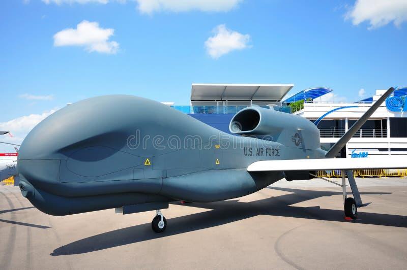 UAV globale del falco di Northrop Grumman RQ-4 a airshow fotografia stock libera da diritti
