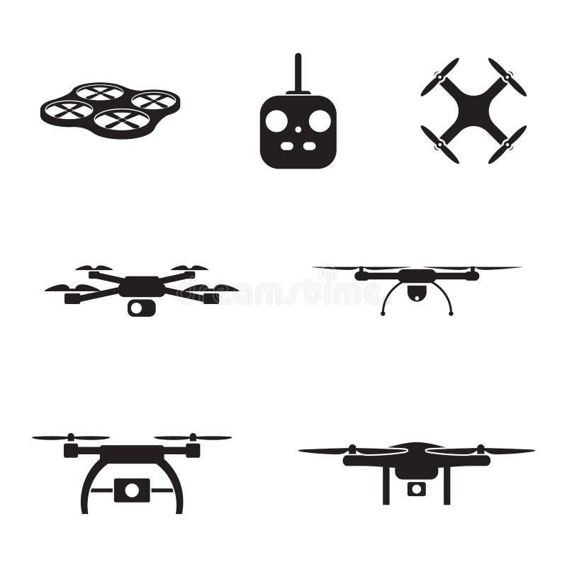UAV kamery ikony ilustracja wektor