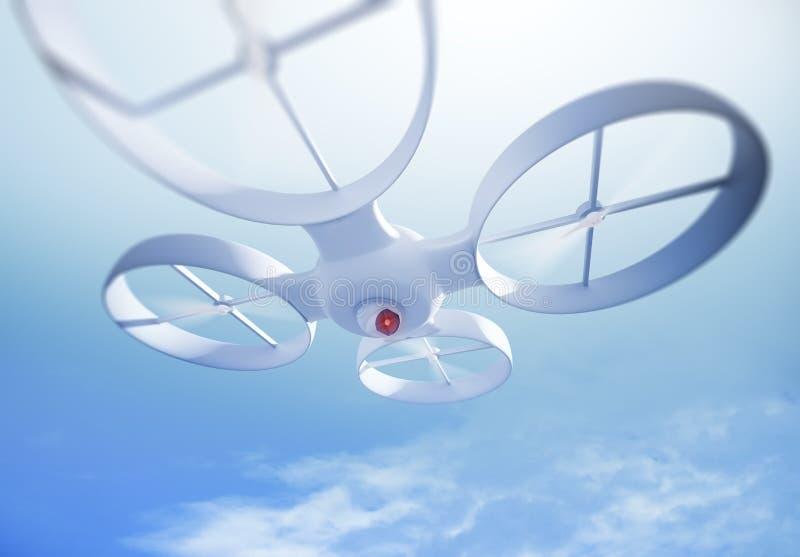 UAV quadrocopter 免版税库存照片