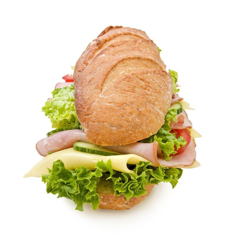 ubåt för smörgås för extra fotskinka stor lång royaltyfria foton