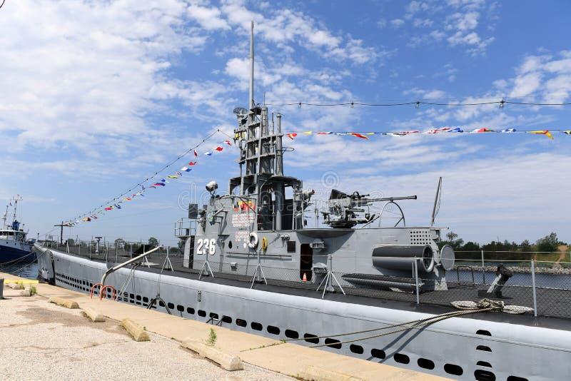 Ubåt USS Silvesides för Förenta staternamarin royaltyfri fotografi