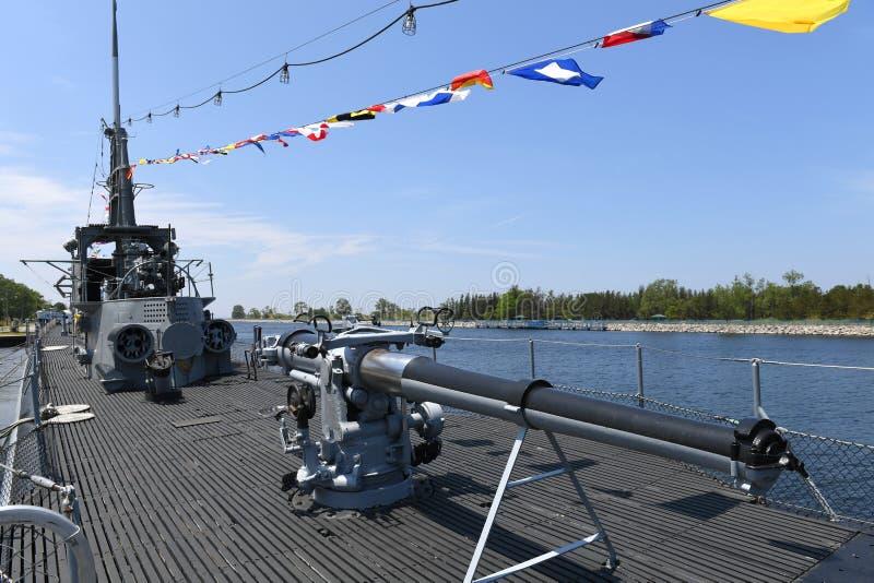 Ubåt USS Silvesides för Förenta staternamarin arkivfoto