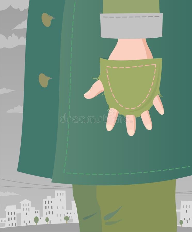 ubóstwo royalty ilustracja