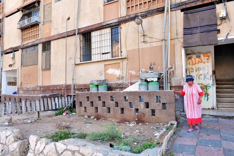 Ubóstwo w Kiryat Malachi, Izrael obraz royalty free