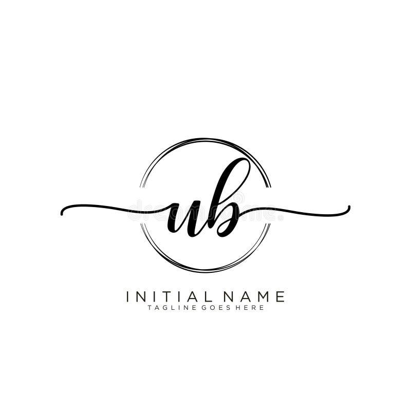Free UB Initial Handwriting Logo With Circle Stock Image - 177828051