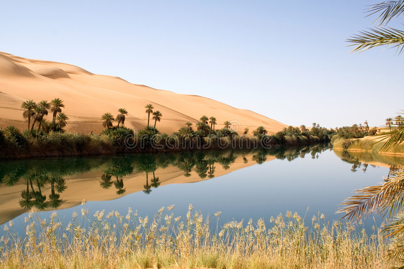 Ubari em Líbia fotos de stock royalty free