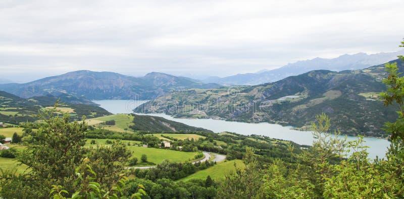 Ubaye谷,法国阿尔卑斯上普罗旺斯阿尔卑斯省法国 免版税库存图片