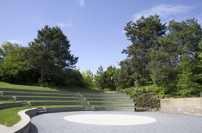 Ubc botanical garden design. UBC botanical garden has nice designs. A performance area with sand garden royalty free stock images