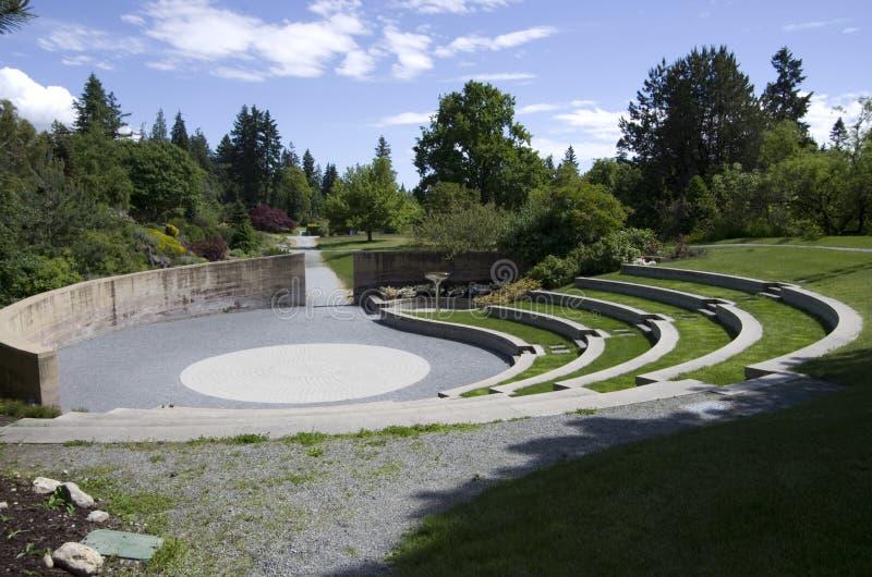 Ubc botanical garden design. UBC botanical garden has nice designs. A performance area with sand garden stock photos