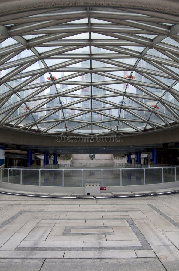 UBC Robson Square Ice Ring stockfotos