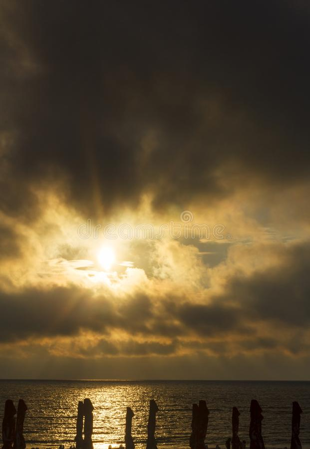 Download Beautiful Cloudscape Landscape Sunset At Beach Stock Image - Image: 43803195