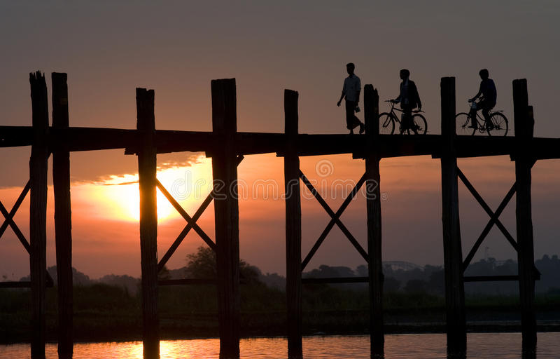 Download Ubein Bridge 1 stock photo. Image of teak, view, construction - 12275682