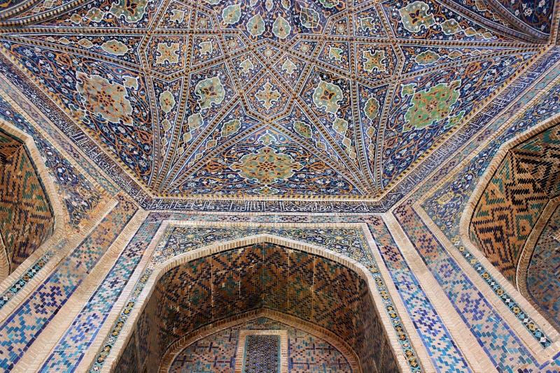 Ubekistan, mosaico di Samarcanda immagine stock