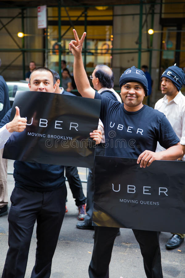 Uber司机抗议 免版税库存照片