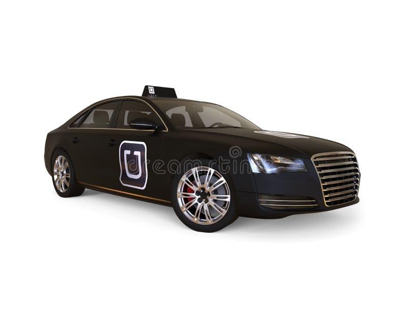 Uber car concept. 3D render image representing uber car concept royalty free illustration