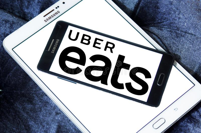 Uber Eats Food Delivery Company Logo Editorial Photo - Image