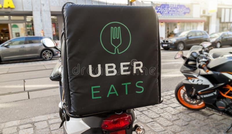 Uber eet royalty-vrije stock afbeeldingen