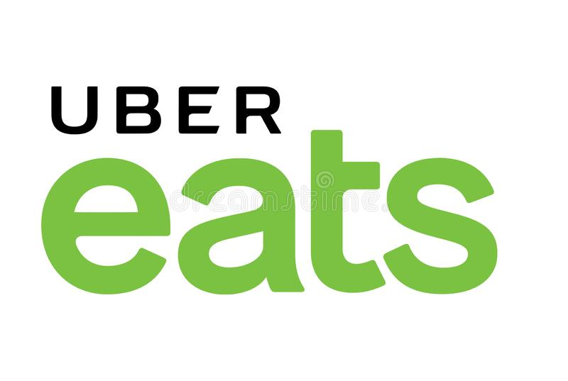 Uber eet Embleem royalty-vrije illustratie