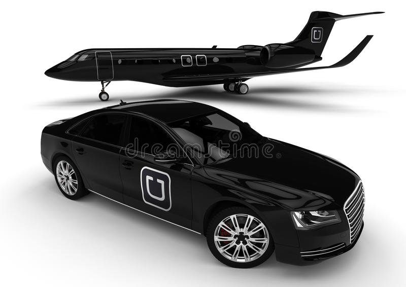 Uber lyxflotta stock illustrationer