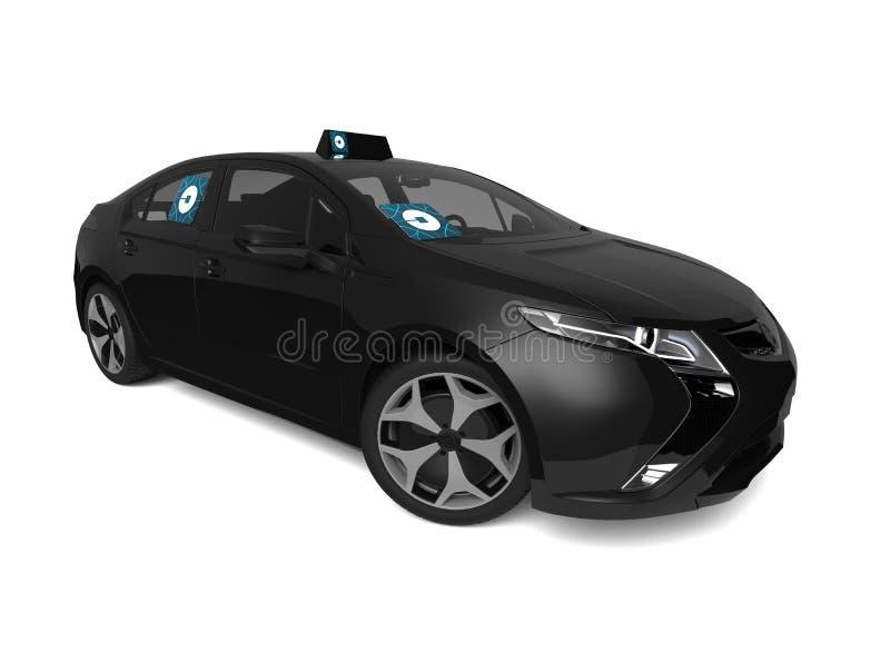 Uber samochodu pojęcie ilustracji