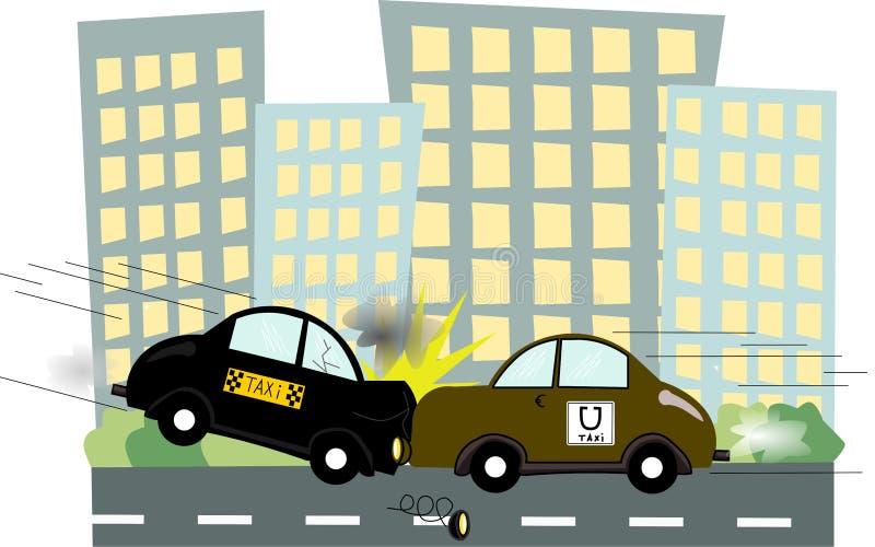 Uber taxi stock illustrationer