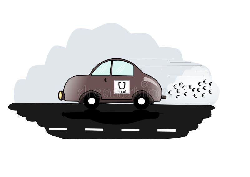 Uber taxilogo royaltyfri illustrationer