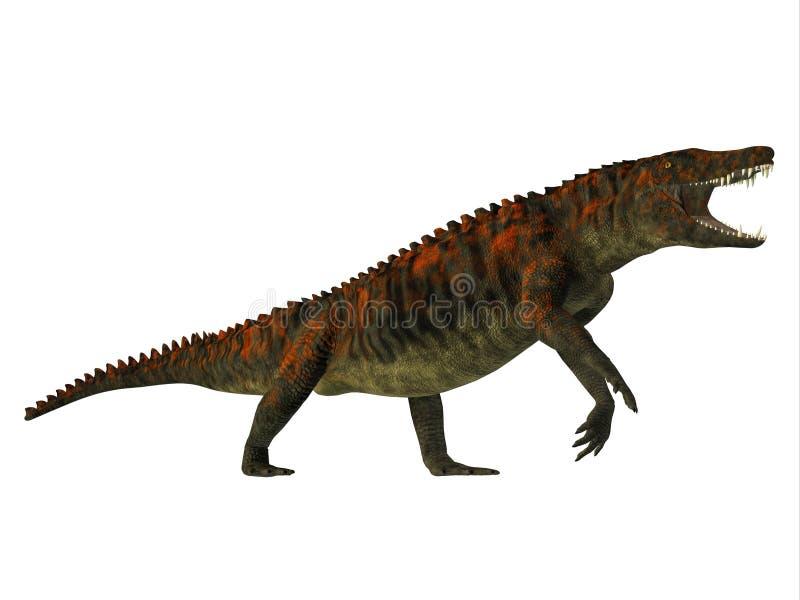 Uberabasuchus Zijprofiel vector illustratie