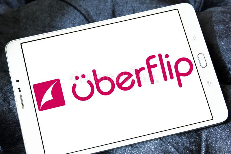 Uberflip平台商标 库存照片