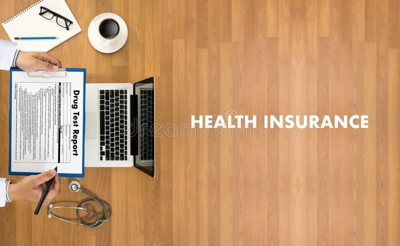UBEZPIECZENIA ZDROWOTNEGO zapewnienia Medycznego ryzyka opieki zdrowotnej Zbawczy prof zdjęcia royalty free