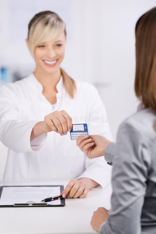 Ubezpieczenie karta zdjęcia stock