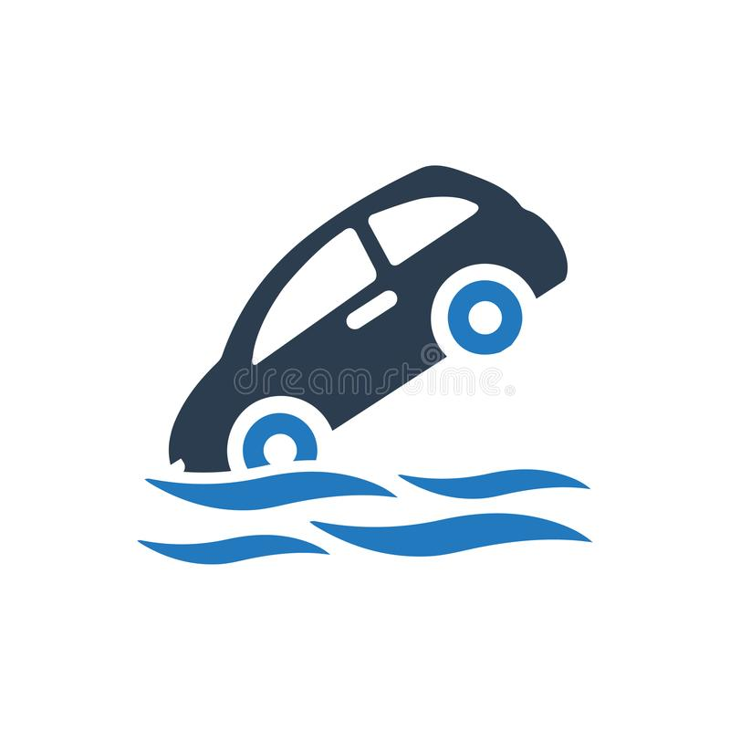 Ubezpieczenie Od Powodzi ikona royalty ilustracja
