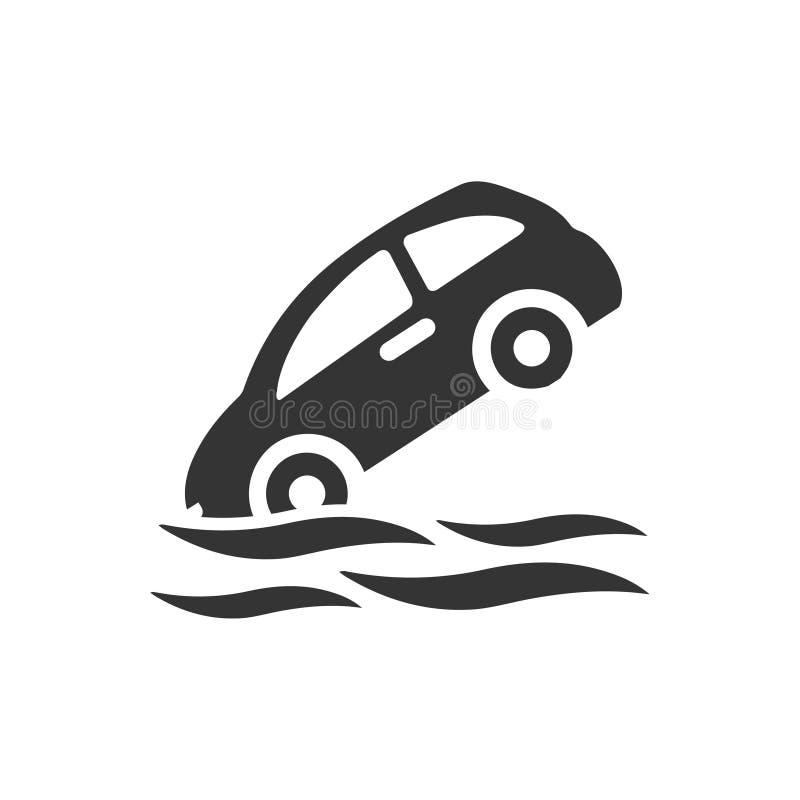 Ubezpieczenie Od Powodzi ikona ilustracja wektor