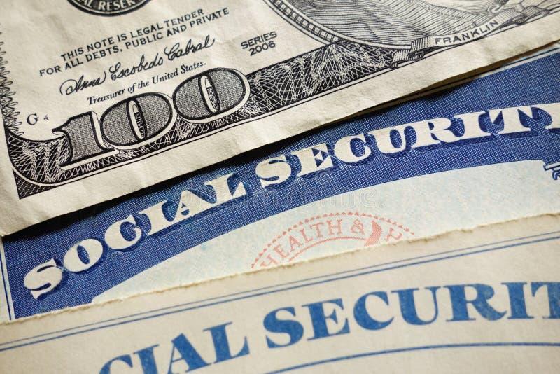 Ubezpieczenie Społeczne karty zdjęcie royalty free
