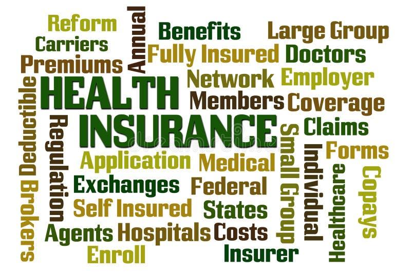 Ubezpieczenie zdrowotne royalty ilustracja