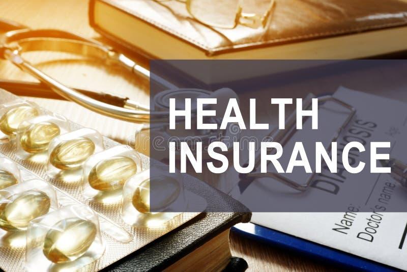 Ubezpieczenie zdrowotne Diagnoza i medycyny zdjęcie stock