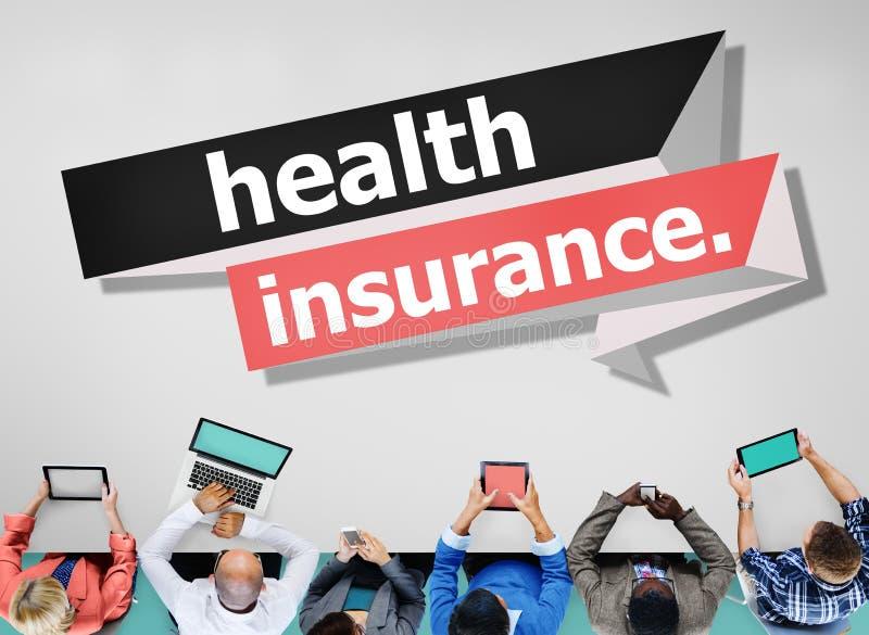 Ubezpieczenie Zdrowotne ochrony oceny ryzyka zapewnienia pojęcie obrazy stock