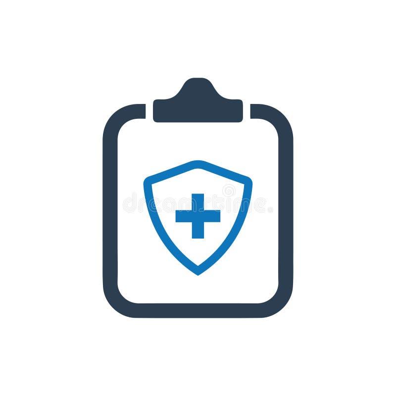 Ubezpieczenie Zdrowotne polisy ikona ilustracji